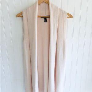 Forever 21 Blush Draped Knit Vest 484
